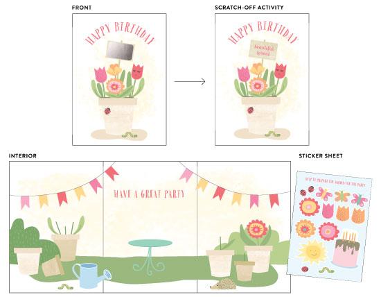 greeting cards - Blossom Birthday by frau brandt