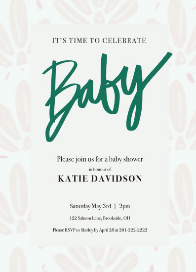 baby shower invitations - Baby Fleur by Inkblot Design