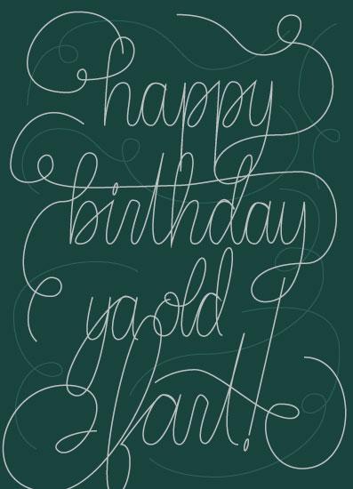 greeting card - Ya Old Fart by Jess Angel