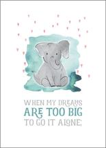 Big Dreams Elephant by Karen Holcombe