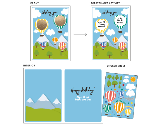 greeting card - Up and Away by Amy Ngo