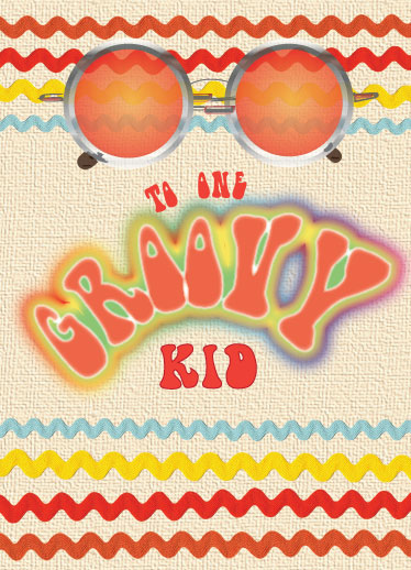 greeting card - One Groovy Kid by Kendra Stanton Lee
