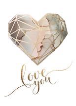 Geometric Heart by Kathy Par
