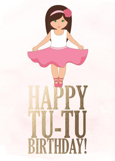 greeting card - TU TU Birthday!! by Kathy Par