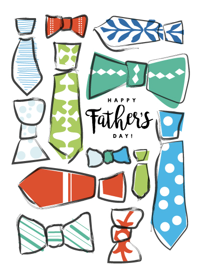 greeting card - Ties by Eleanor Mayrhofer