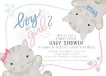 Boy or Girl Kittens by Noonday Design