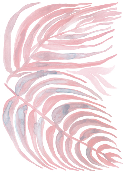 greeting card - pink leaves by raven erebus