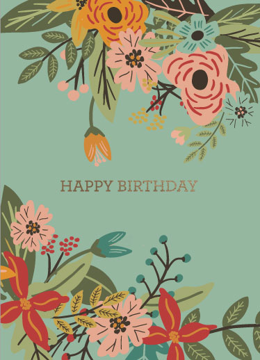 greeting card - Birthday Flowers by Bekah Beckman
