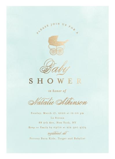 baby shower invitations - Classic Baby by Ana Sharpe