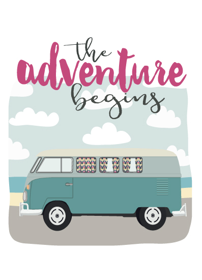greeting card - The Adventure Begins by Rebecca Humphreys