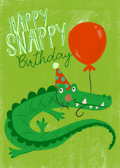 greeting card - Happy Snappy by Patrice Horvath