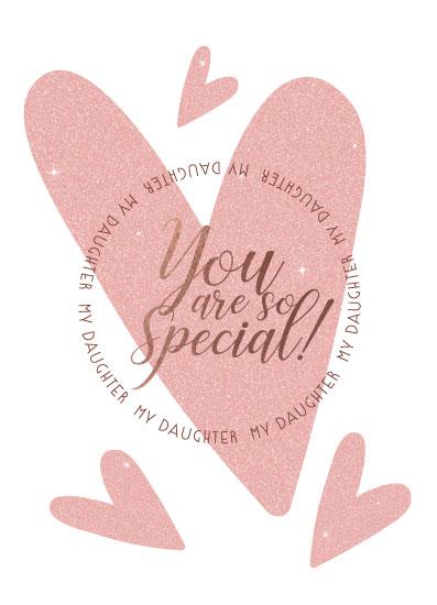 greeting card - Daughter Special by Karen Braga