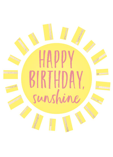 greeting card - Birthday Sunshine by LouisaKay