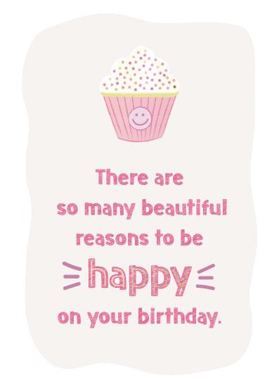 greeting card - Happy Cupcake by LouisaKay