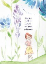 Girl In Flowers by Karen Holcombe