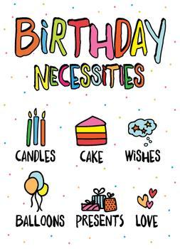 Birthday Necessities