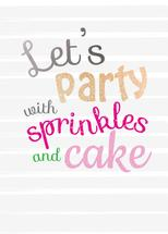 Celebrate with sprinkle... by Jolene Heckman