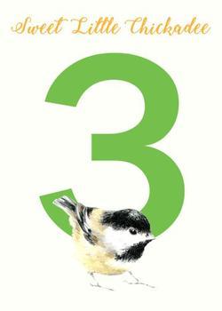 Chickadee Turning Three