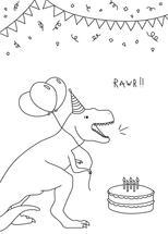 "RAWR!..Is ""happy birthd... by Erin Phipps"