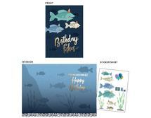 Birthday Fishes by Kimiyo Prints