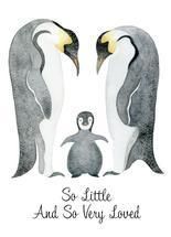 Penguin New Baby Card by Elizabeth Marie