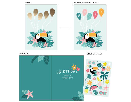 greeting cards - Toucan Tweet Birthday Wishes by Pace Creative Design Studio