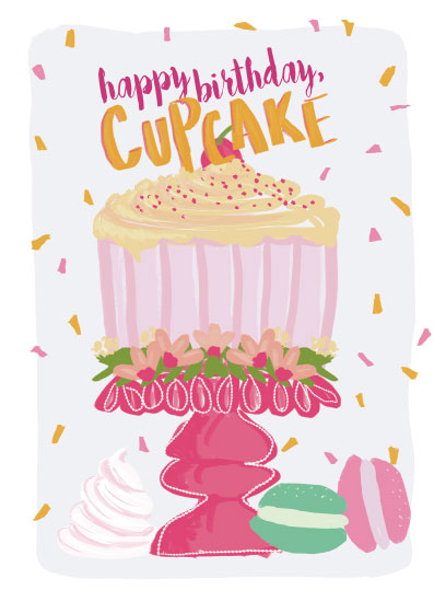 greeting card - Happy Birthday Cupcake by Inkblot Design