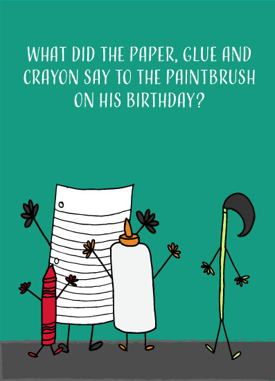 greeting card - Too Punny by Moxie