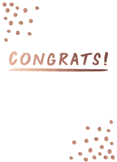 greeting card - Congrats + Confetti by Jenna Gibson