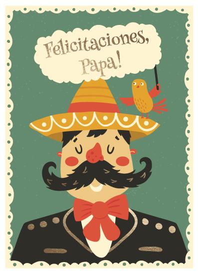 greeting card - Felicitaciones, papa! by Leysan Shayakbirova