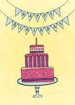 Hand Drawn Birthday Cak... by Audra Candelaria
