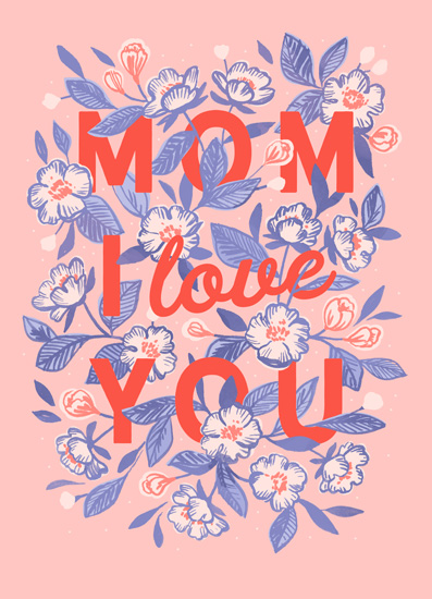 greeting card - Mom I Love You by Paper Raven Co.