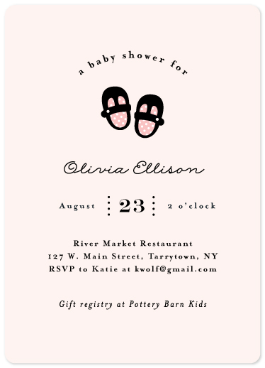 baby shower invitations - Mary Jane by Anne Holmquist