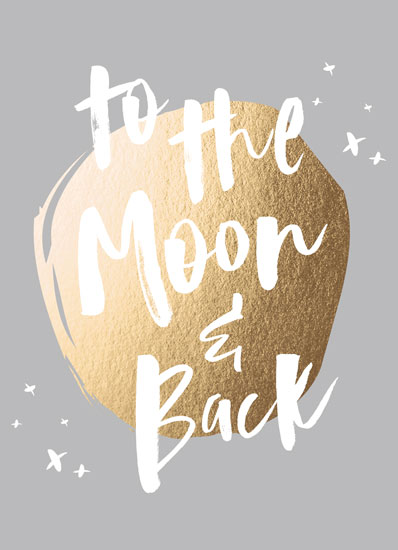 greeting card - to the moon and back by AK Graphics