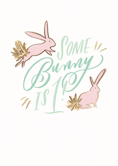 greeting card - Some Bunny by Julie Murray