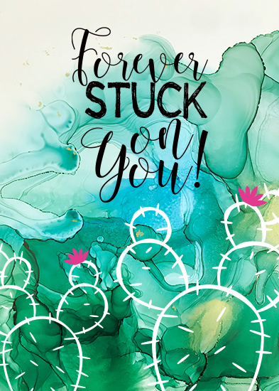 greeting card - Stuck On You! by Kathy Par