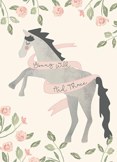 greeting card - Wild and Three by Hallie Fischer