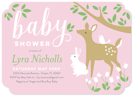 baby shower invitations - Sweet Little Dear by Eleanor