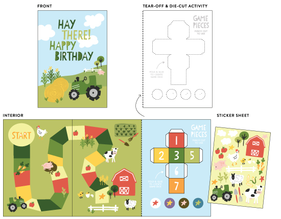 greeting cards - Hay There! Happy Birthday! by Pace Creative Design Studio