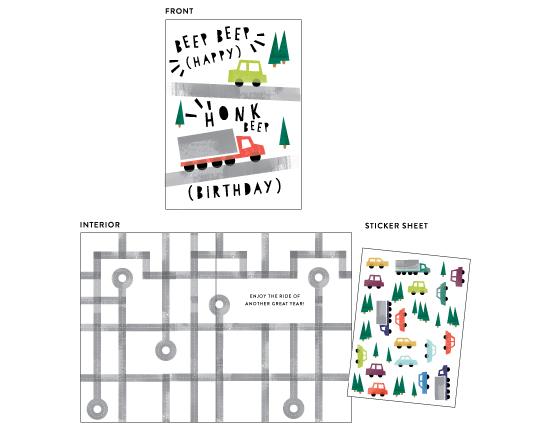 greeting cards - Beep Beep Honk! by Shiny Penny Studio