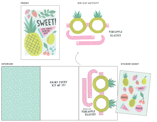 greeting cards - sweet fruit by Karidy Walker