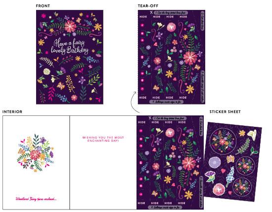 greeting card - Magical Fairy Tiara by Jan Shepherd