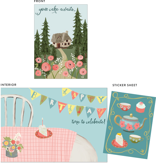 greeting cards - your cake awaits by Alicia Abla