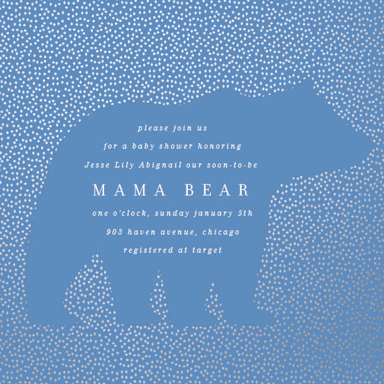 baby shower invitations - Classic Bear by Baumbirdy