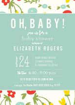 Oh Baby Vintage Floral by Paper Etiquette