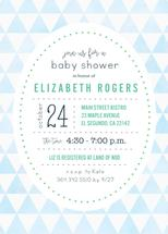 Blue Triangle Baby Show... by Paper Etiquette