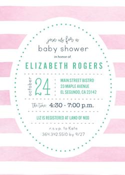 Pink Watercolor Baby Shower