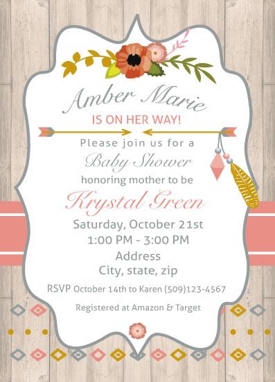 baby shower invitations - Boho Baby Shower Invitation by Jennifer Warren