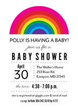 Rainbow Baby Shower by Paper Etiquette