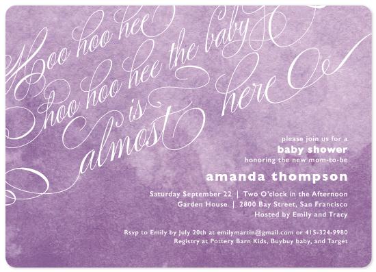 baby shower invitations - hoo hoo hee by Saavy
